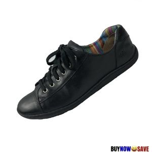 Born 8 Blue Leather Lace Up Fashion Sneakers